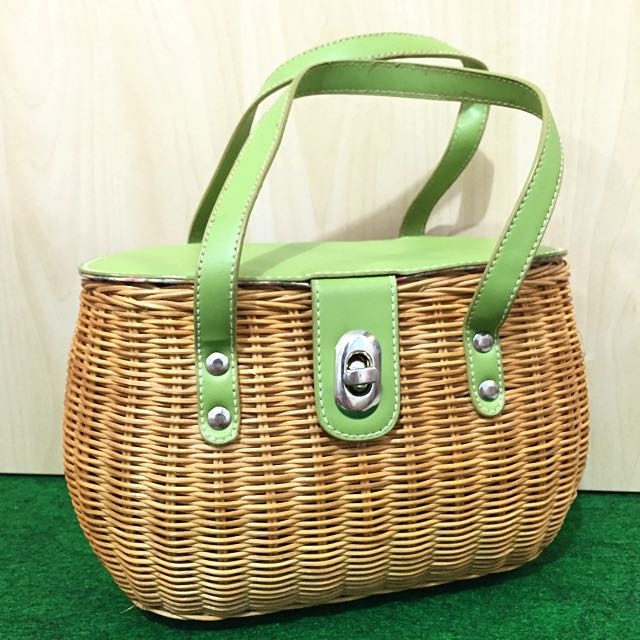 Charles & Keith Vintage Style Wicker Bag