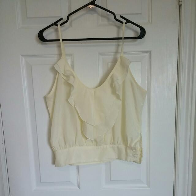 Cream, Loose Fitting Top