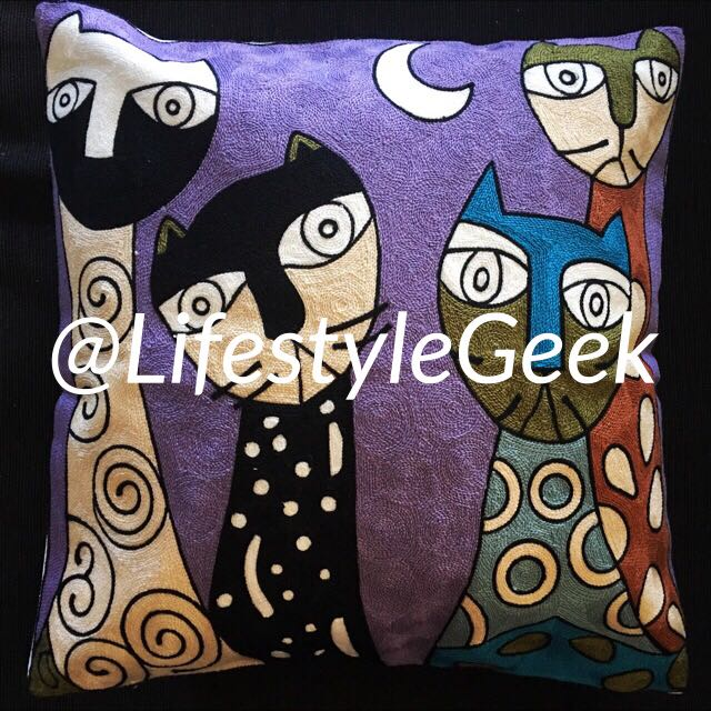 Embroidered Cushion Cover 1pc 45cm x 45cm