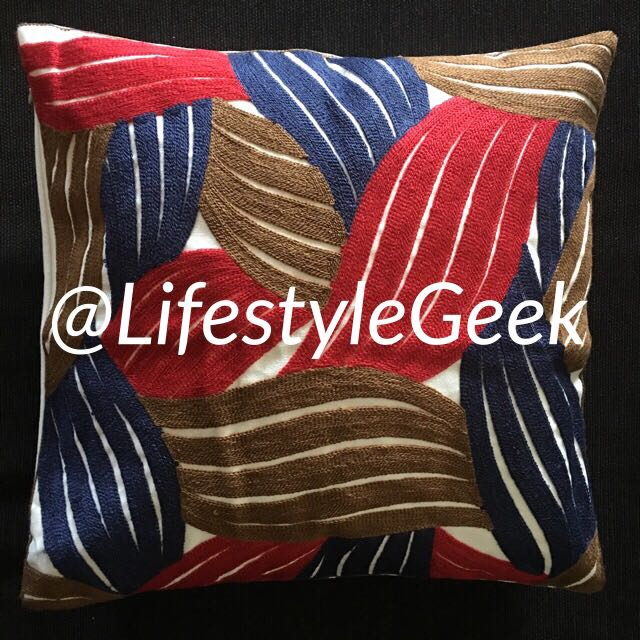 Embroidered Cushion Cover, 1pc 45cm x 45cm