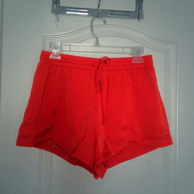 Forever 21 Drawstring Coral Shorts