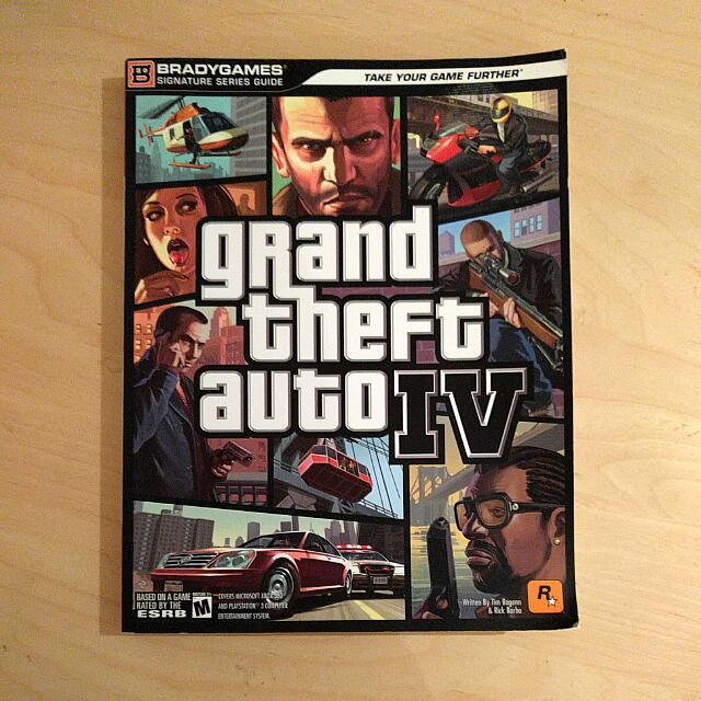 Grand Theft Auto IV BradyGames strategy guide (GTA 4)