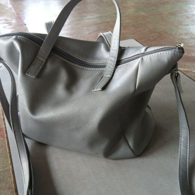 Gray Hand And Sling Bag
