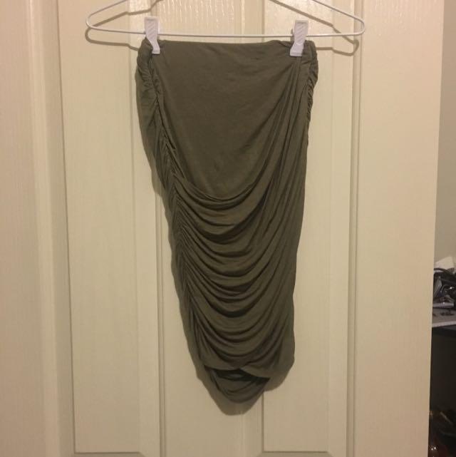 Ally Fashion Green Side Cut Skirt