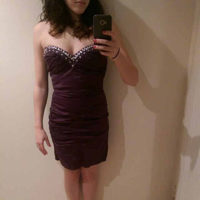 Lipsy Dark Purple Dress -size 10