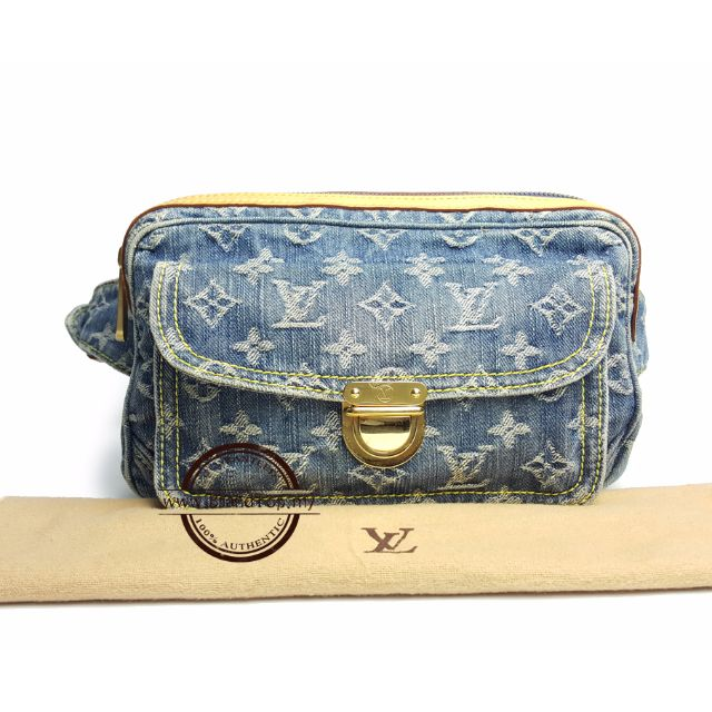 83650778d89 Louis Vuitton Monogram Denim Bum Waist Bag, Luxury on Carousell