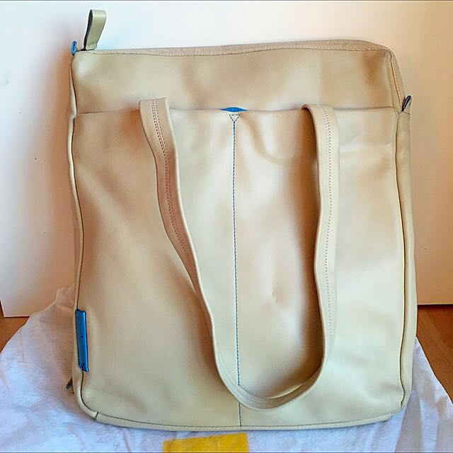 Mandarina Duck cream work/school shoulder bag