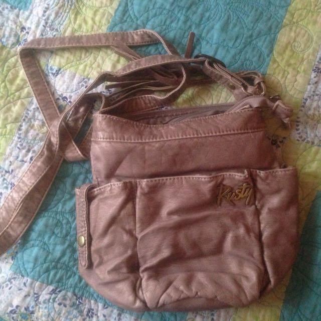 Metallic Brown Handbag