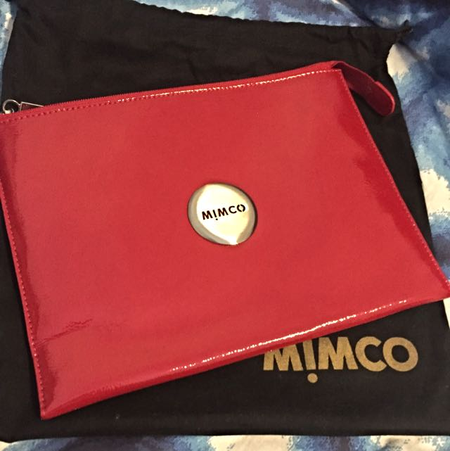 Mimco Red iPad Pouch Clutch