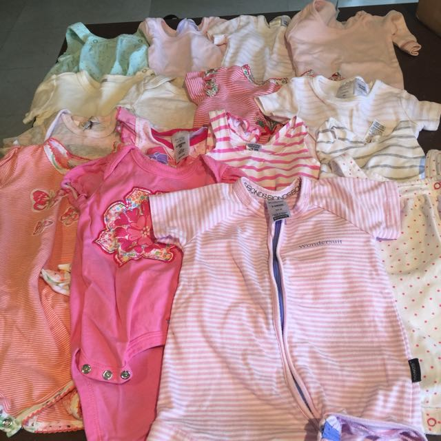 Mixed Pack Of Girls Onesies