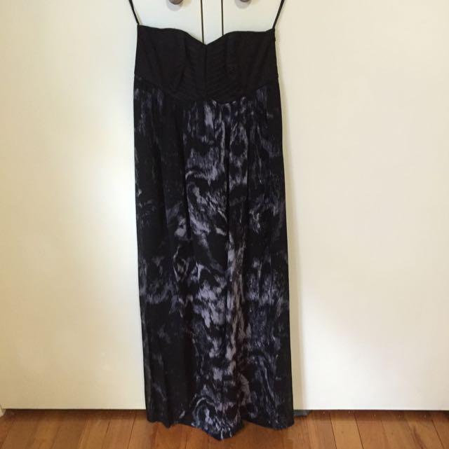 Natasha Gan Strapless Maxi Dress Size 8