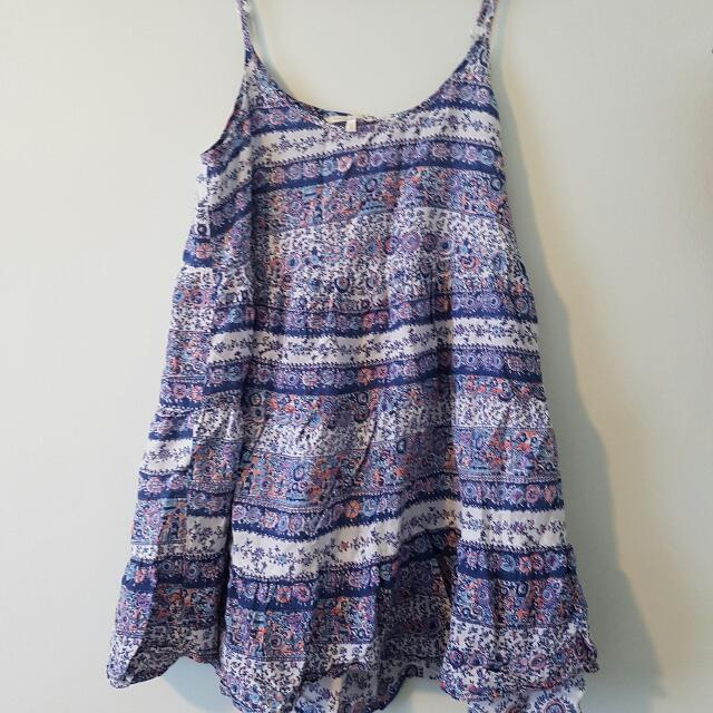 Oneill Babydoll Beach Dress Size 10
