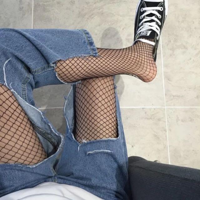 ✔️歐美時尚大牌oversize寬褲aa刷破仿舊牛仔褲