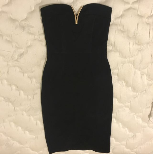 Paper Scissors Black/Gold Going Out Dress