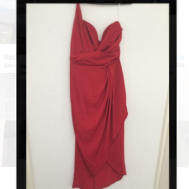 Red Dress one Shoulder
