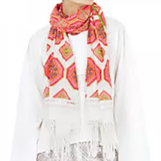 Sass & Bide Lights In Light Embellished Scarf