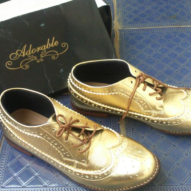 Sepatu Adorable Projects Storia Gold Size 41