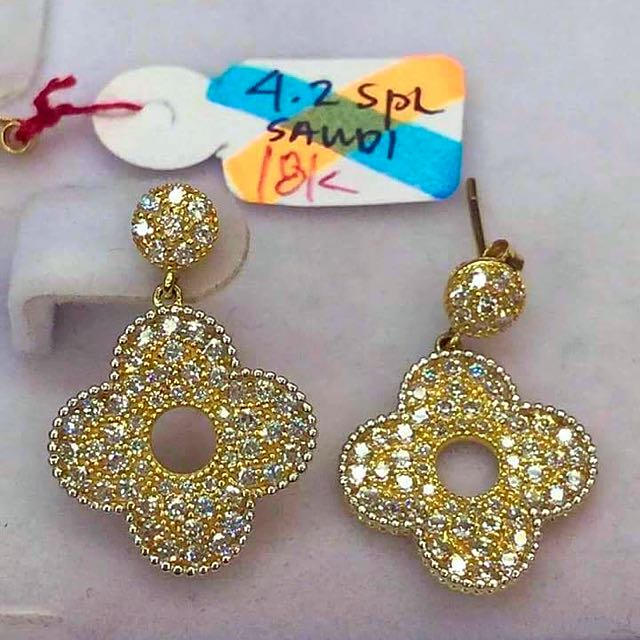 SOLID 18 Carat Yellow Gold Earrings