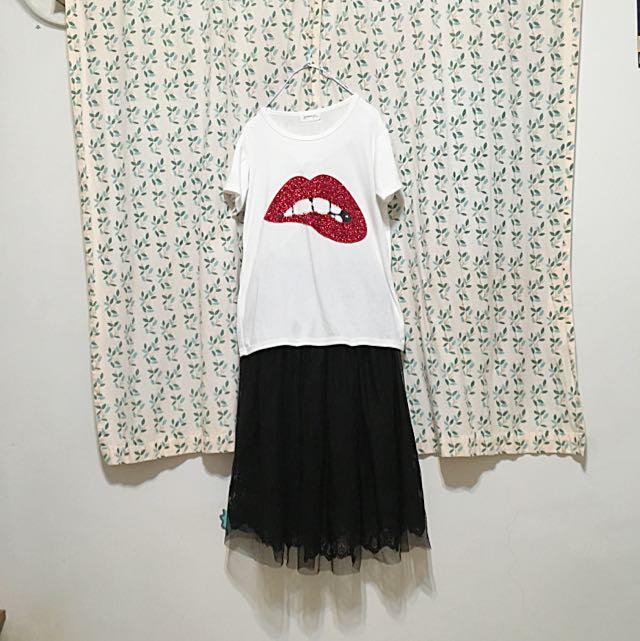 韓國短袖棉質T恤