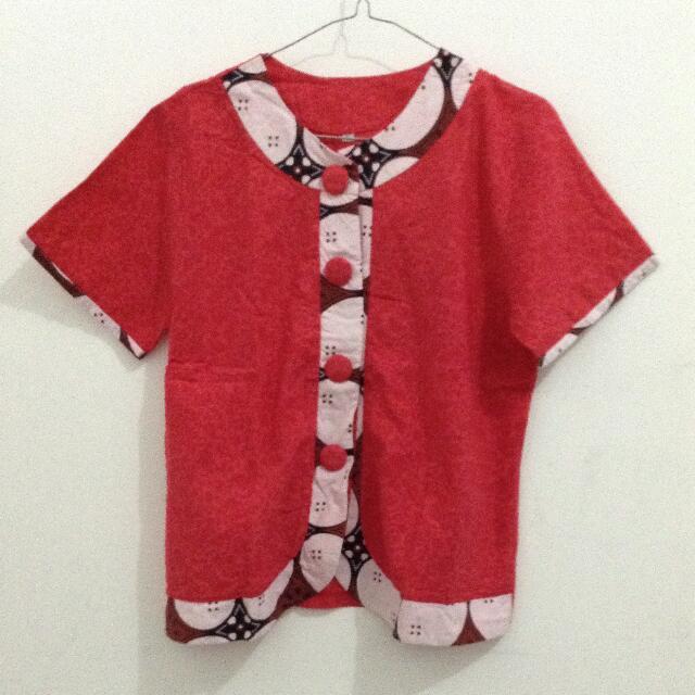 Top Red Batik