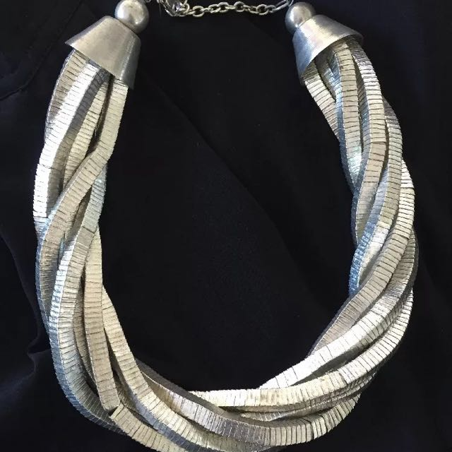 Topshop Silver Neck Piece