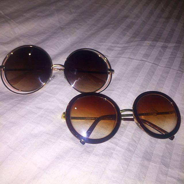 Vintage Sunglasses Round Lens