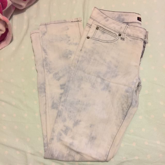 Washed-Out Denim Jeans