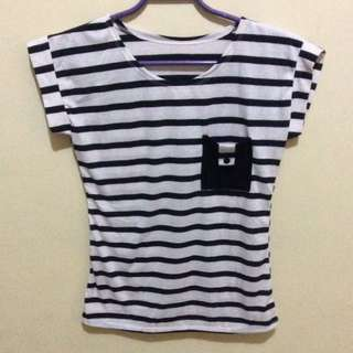 Stripes With Pocket Tee