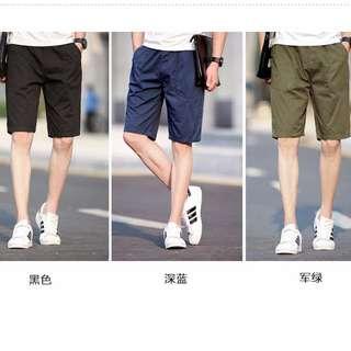 六色-素色休閒短褲