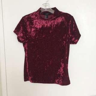 Crushed Velvet Textured Shirt From Forever 21