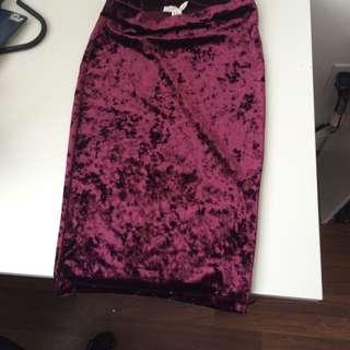 Crushed Velvet Skirt from Forever 21