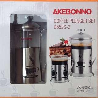 Akebonno Coffee Plunger Set D552S-2