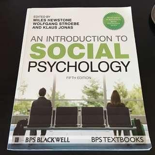 An Introduction To Social Psychology: Hewstone, Strobe & Jonas