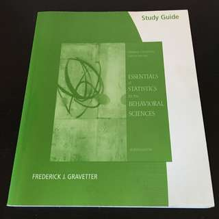 Essentials Of Statistics For The Behavioral Sciences Study Guide 7th Ed.