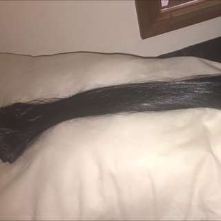 22-24 Inch Black synthetic Hair Extensions