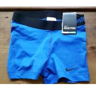 """Nike Pro 3"""" Shorts Blue Size S"""