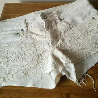 American Eagle Crochet Lace Shorts