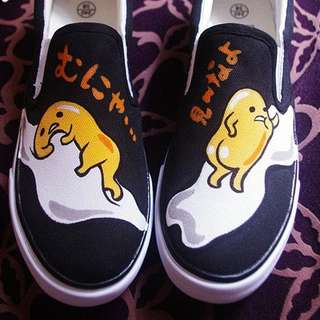 Gudetama hand painted shoes