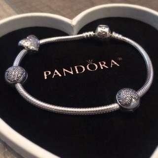 PANDORA Bracelet With 3 Charms