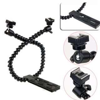 Flexible Flash Bracket Holder Dual Arm