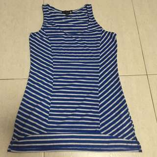 Cotton On Blue Stripped Sleeveless Top