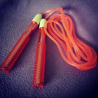 Pinkish Orange Jumprope (used only once)