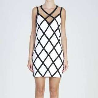 Bec And Bridge, Striped Black And White Party, Cocktail Dress, Strappy