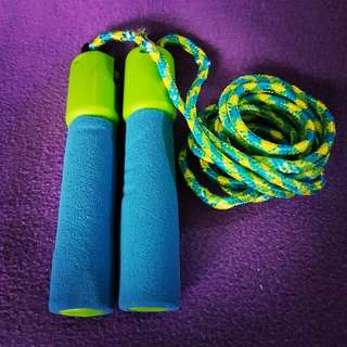 Neon blue and green Jump Rope (used once)