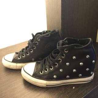 All Star 卯釘內增高鞋