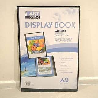 A2 display folio book