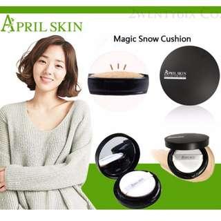 April Skin氣墊粉餅(21明亮_黑盒)