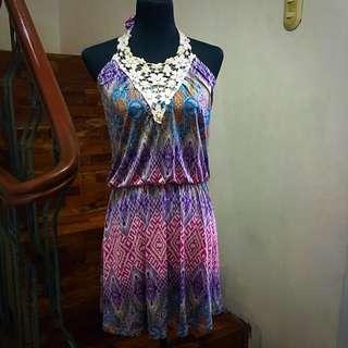 Purple Printed Dress from Paper Scissors