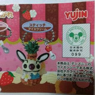 🚚 絕版Yujin 史迪奇甜點扭蛋吊飾