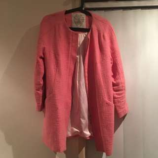Forever New Jacket Candy Pink Size 10